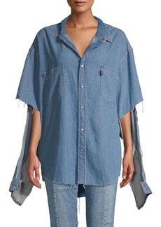 Vetements Logo Denim Shirt