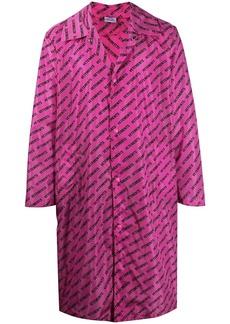 Vetements logo-print button-up raincoat