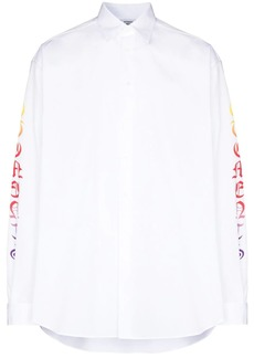 Vetements logo-print long-sleeve shirt