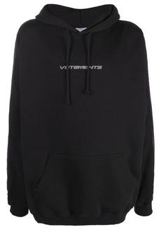 Vetements logo-stripe hoodie