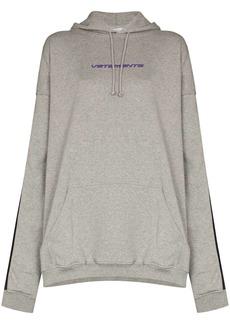 Vetements logo print side stripe hoodie
