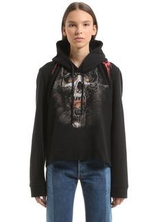 Vetements Metal Printed Hooded Cotton Sweatshirt