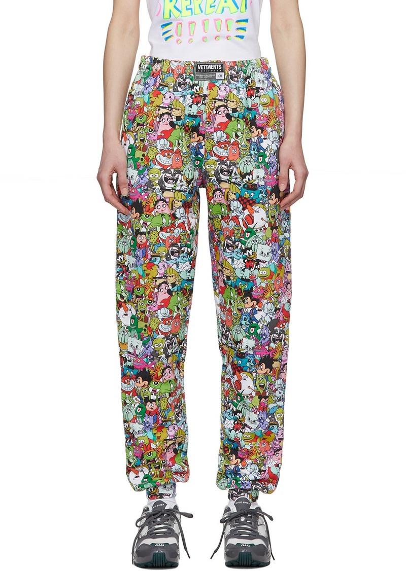 Vetements Multicolor Vetemonster Lounge Pants