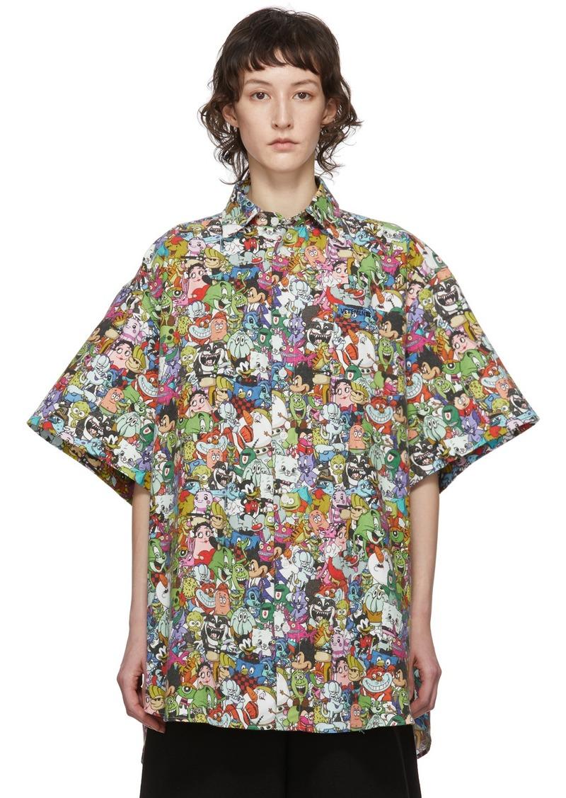Vetements Multicolor Vetemonster Short Sleeve Shirt