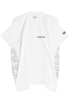 Vetements Open Back Printed T-Shirt