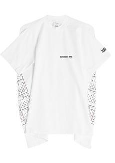 Vetements Open Back Printed T-Shirt