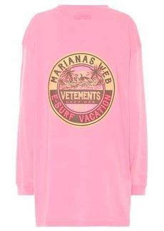 Vetements Oversized cotton-jersey sweatshirt