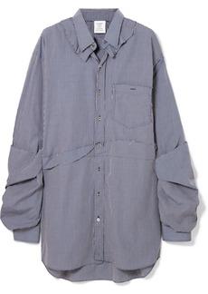 Vetements Oversized Distressed Checked Cotton-poplin Shirt