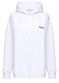 Vetements Oversized Logo Print Cotton Blend Hoodie