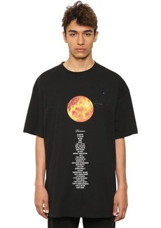 Vetements Oversized Planet Printed Cotton T-shirt