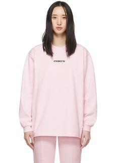 Vetements Pink Inverted Logo T-Shirt
