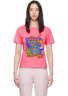 Vetements Pink Vacation Cropped T-Shirt