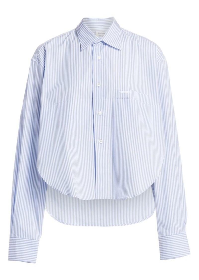 Vetements Pinstripe Folded Shirt