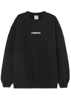 Vetements Printed Cotton-jersey Sweatshirt