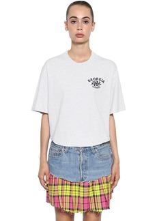 Vetements Printed Cotton Jersey T-shirt