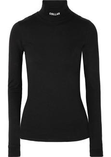 Vetements Printed Cotton-jersey Turtleneck Top