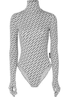Vetements Printed Stretch-jersey Turtleneck Bodysuit