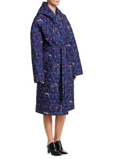 Vetements Quilted Floral Wrap Coat