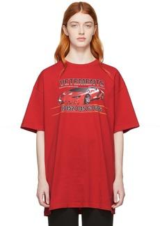 Vetements Red Car Hotline T-Shirt