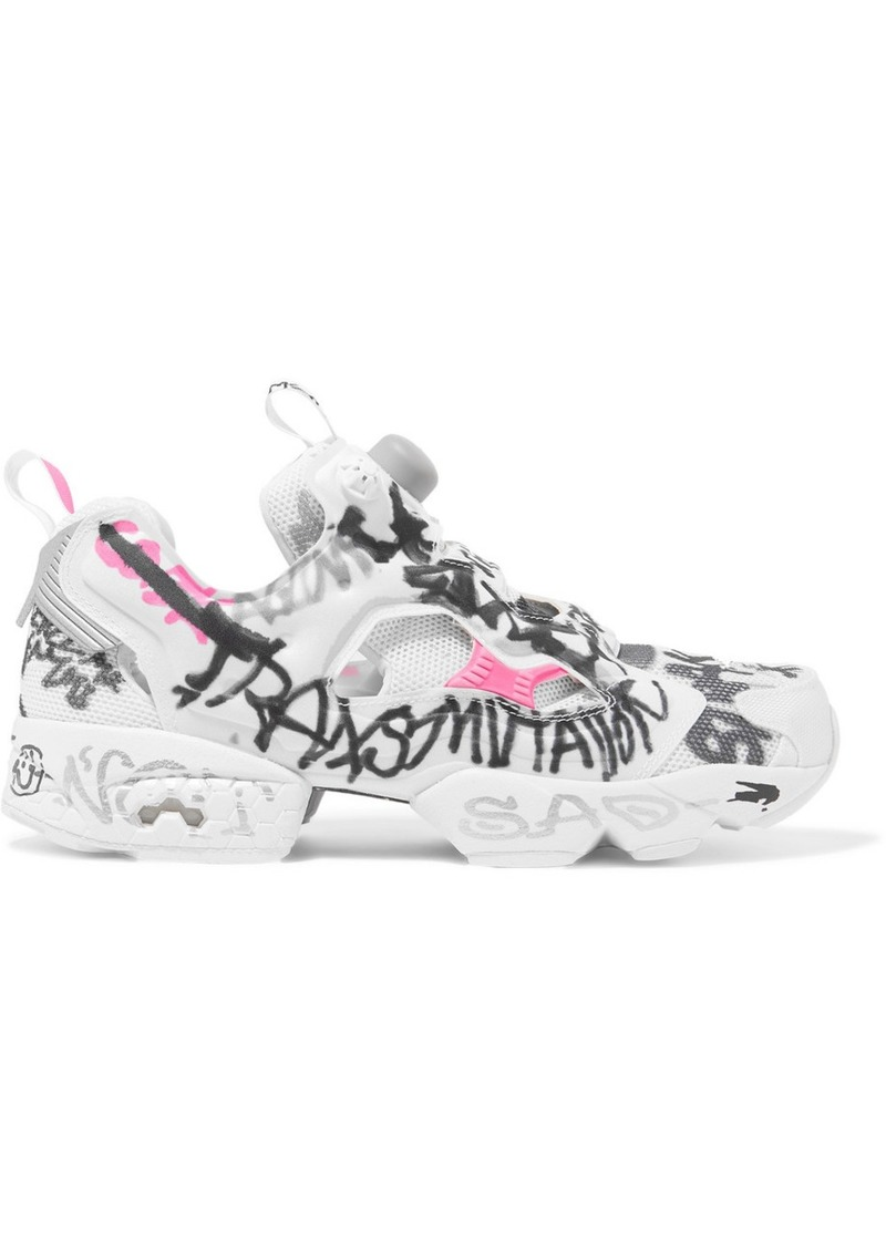 Reebok Instapump Fury Printed Neoprene And Mesh Sneakers
