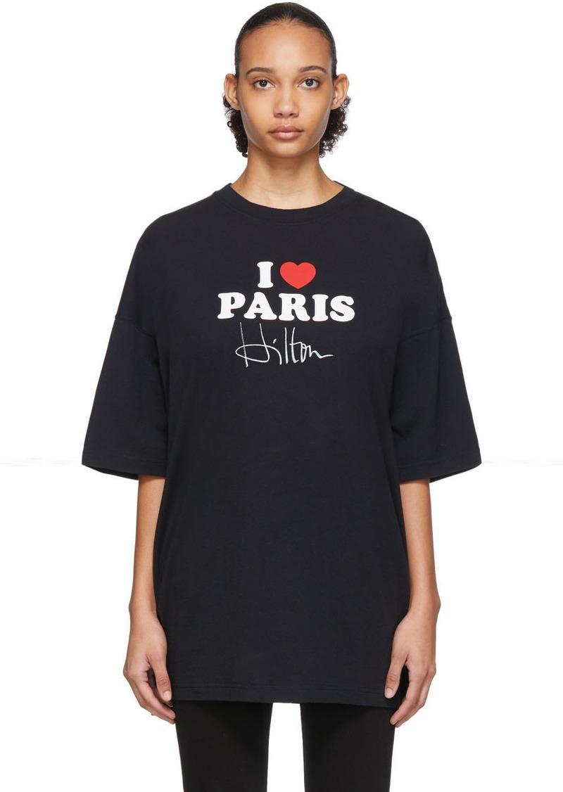 Vetements SSENSE Exclusive Black 'I Love Paris' T-Shirt