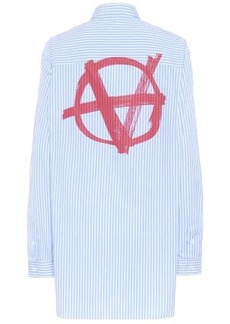 Vetements Striped cotton shirt
