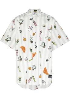 Vetements Cartoon stripe-pattern shirt