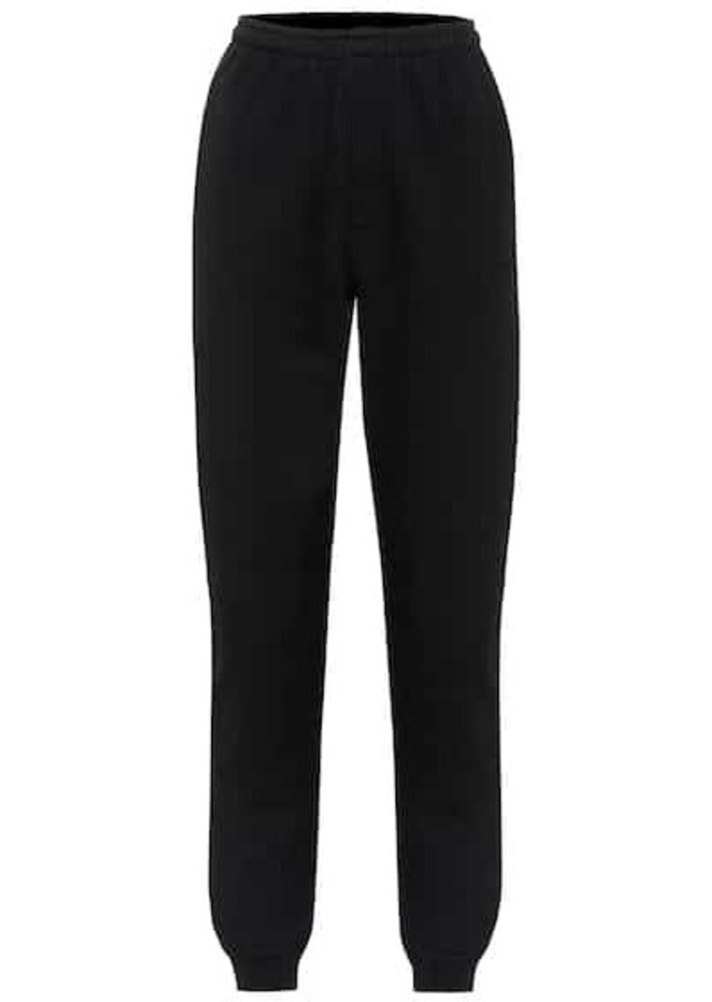 Vetements Tapered cotton-jersey trackpants