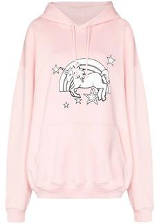 Vetements unicorn print hoodie