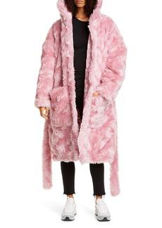 Vetements Anarchy Faux Fur Teddy Coat