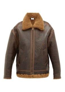 Vetements Anarchy-print shearling jacket