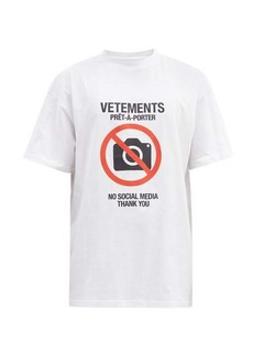 Vetements Antisocial-print cotton-jersey T-shirt