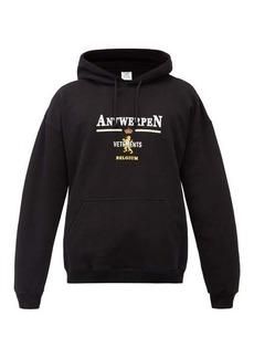 Vetements Antwerp logo-embroidered cotton-blend sweatshirt