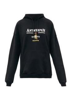 Vetements Antwerpen logo-print cotton hooded sweatshirt
