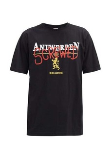 Vetements Antwerpen Screwed-print cotton-jersey T-shirt