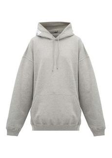 Vetements Atelier-patch cotton hooded sweatshirt