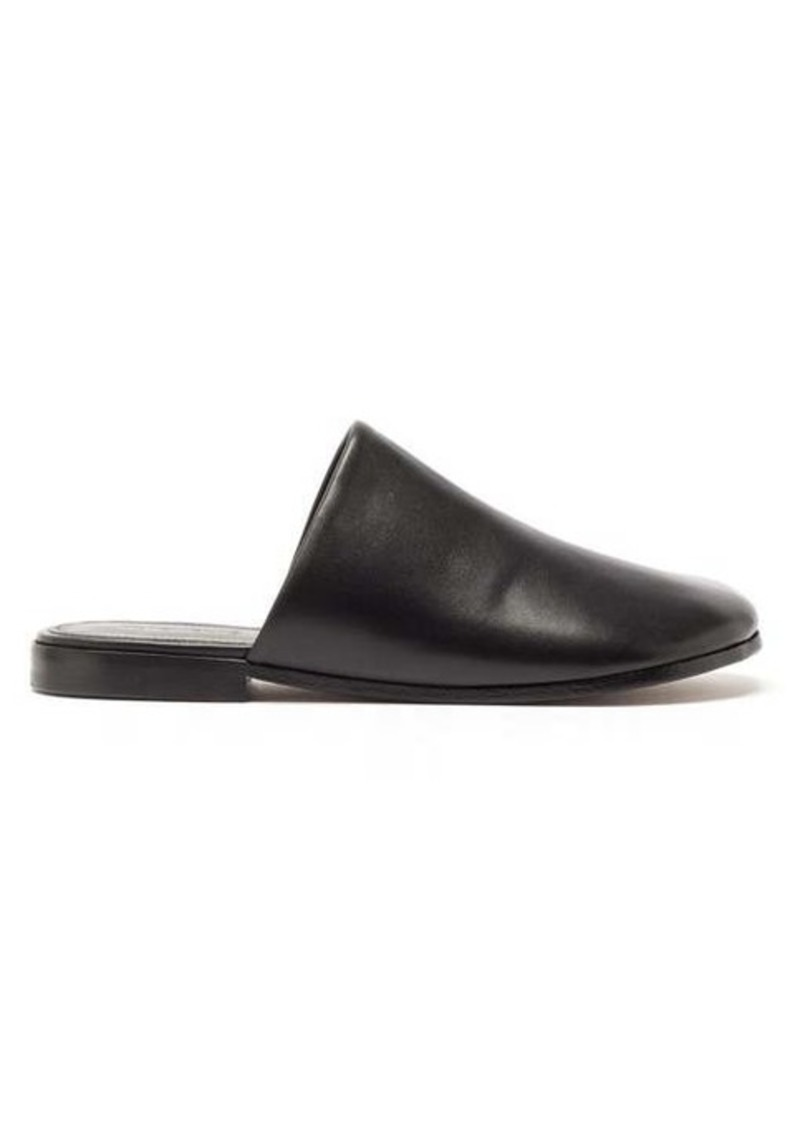 Vetements Backless leather slipper shoes