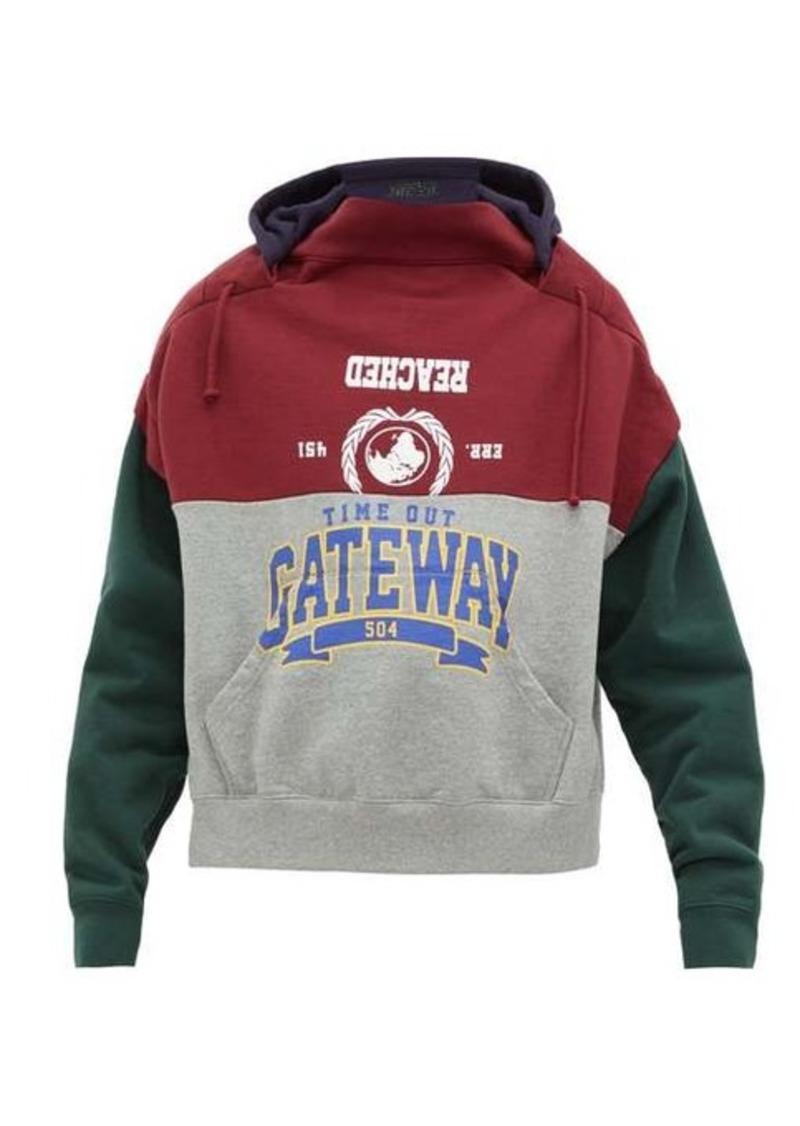 Vetements Bad Gateway deconstructed hooded sweatshirt