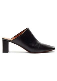 Vetements Boomerang square-toe leather mules
