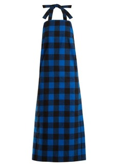 Vetements Checked flannel apron dress