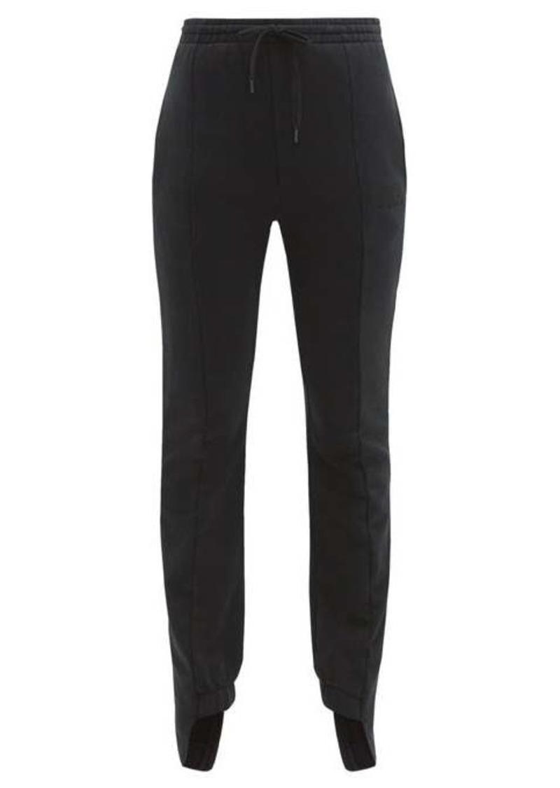 Vetements Cotton-blend slim-leg track pants