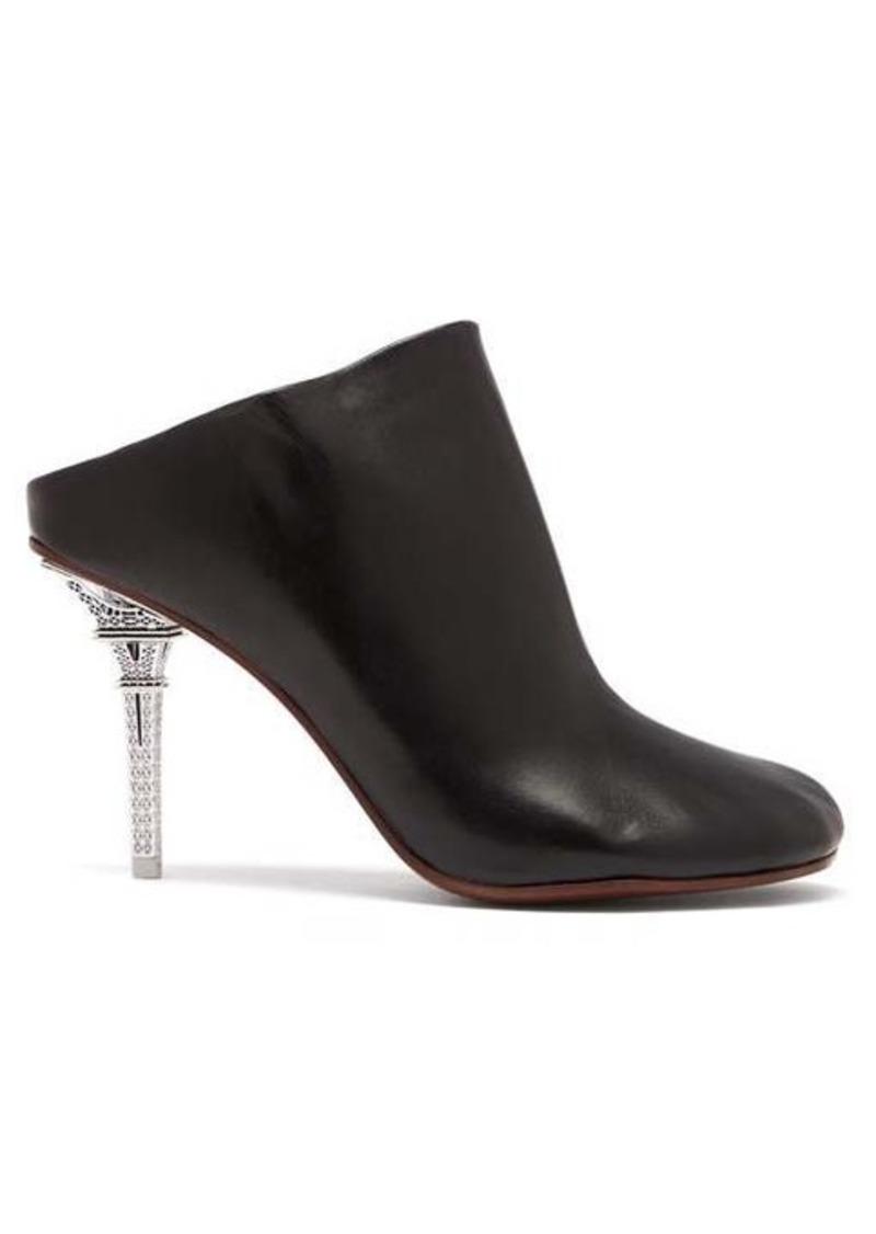 Vetements Eiffel Tower-heel leather mules