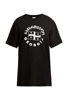 Vetements Flag-print cotton T-shirt