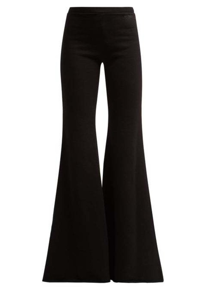 Vetements Flared cotton track pants
