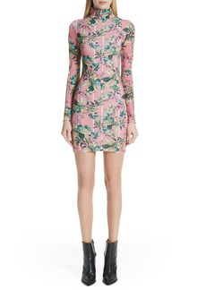 Vetements Floral Print Body-Con Dress