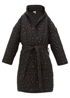 Vetements Floral-print quilted hooded robe coat