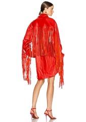 VETEMENTS Fringe Leather Shirt