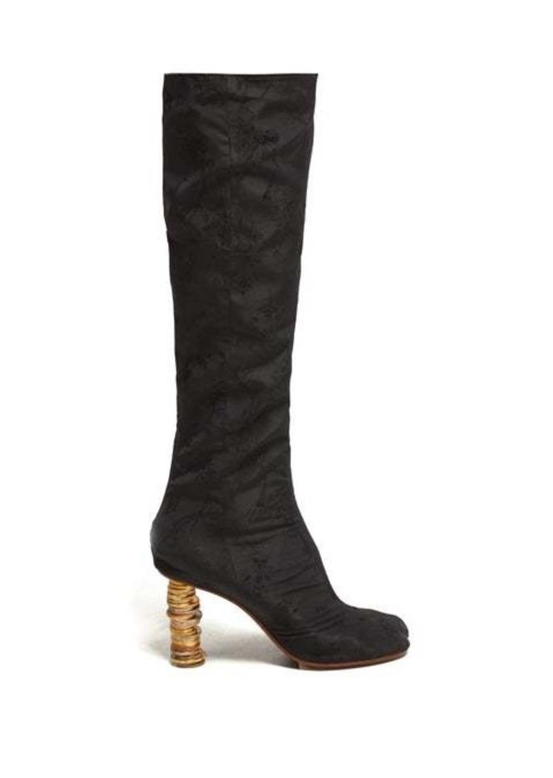 Vetements Geisha split-toe coin-heel jacquard boots