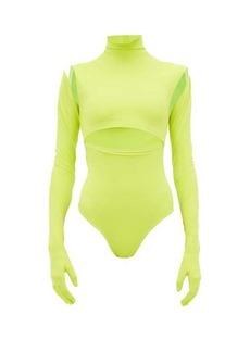 Vetements Gloved stretch-jersey bodysuit
