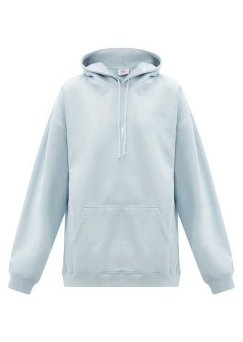 Vetements Goat-print cotton jersey hooded sweatshirt